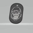 3D print model Gorilla military plaque, darkunu