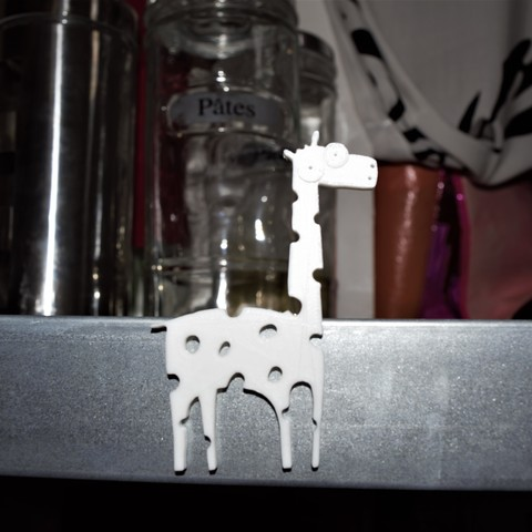 Download 3D printer model Magnetic cartoon giraffe, imagin3D