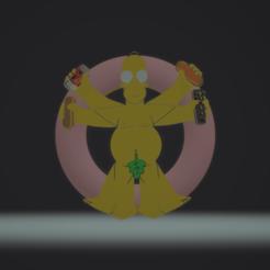 STL file Homer Da Vinci, darkunu