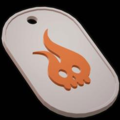 Download 3D printing templates Fireskull military plate, imagin3D