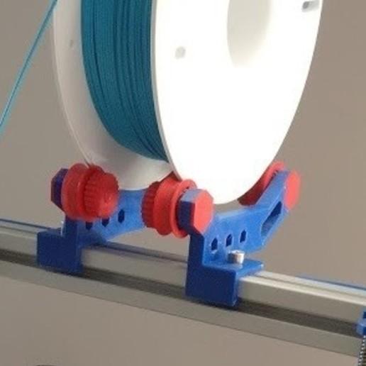 Télécharger objet 3D gratuit Porte-bobine hexagonal pour profilé d'extrusion 3030, fezz