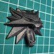 Télécharger fichier STL gratuit Aimant pour réfrigérateur Witcher Wolf School Medallion • Modèle pour impression 3D, fezz
