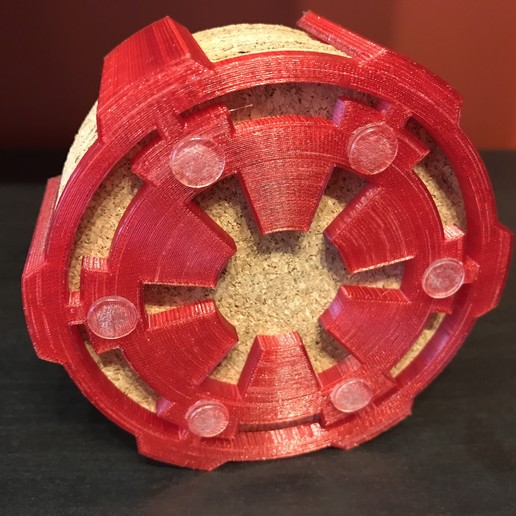 20180819_165441384_iOS.jpg Download free STL file Galactic Empire coaster holder • Design to 3D print, fezz