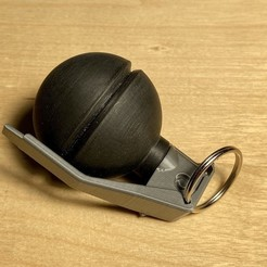 Download 3D printing models Hand Grenade Container Key chain , fezz