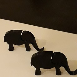 3D print model Lithophane elephant, Toos