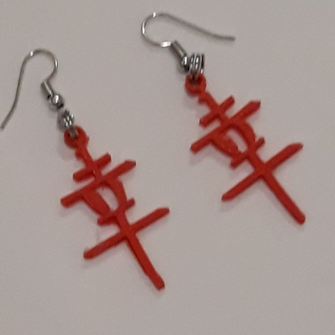 Free 3D print files Earrings Happyness, Toos