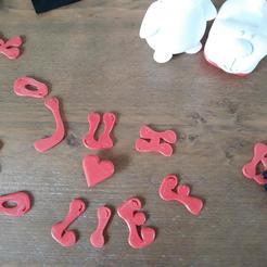balloon text.jpg Télécharger fichier STL La fête de la lettre aux Crocs • Design à imprimer en 3D, Toos