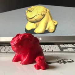 3d printer designs Licourson key ring: Baby bear unicorn, michoko