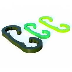 clip-cableV2.jpg Télécharger fichier STL gratuit Clip Cable version éco(lo)nomie de matière • Objet pour imprimante 3D, michoko