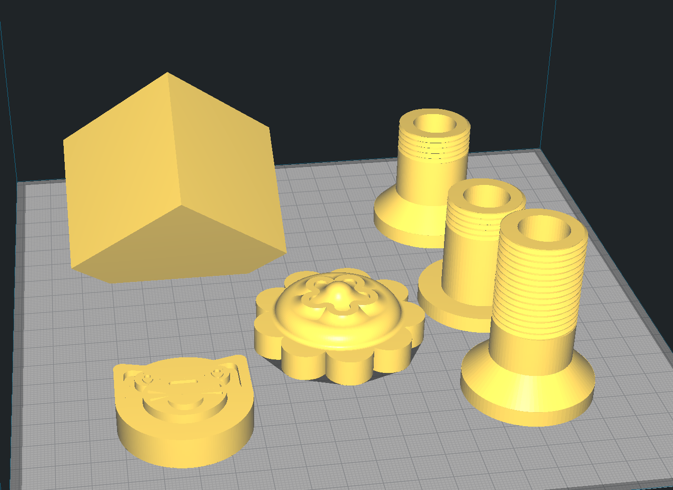 pateres.png Download free STL file Coat hooks cat, flower and cube. • 3D printable object, michoko