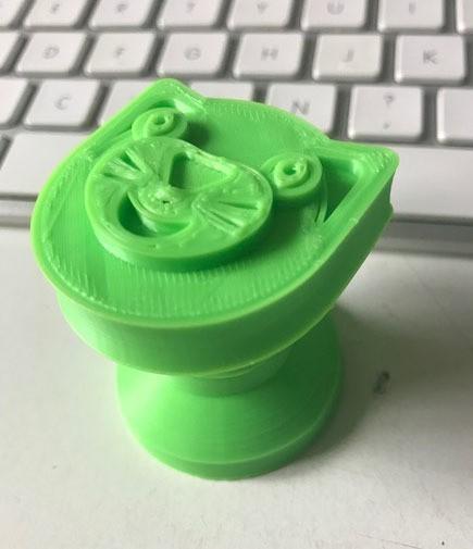 chatvert.jpg Download free STL file Coat hooks cat, flower and cube. • 3D printable object, michoko