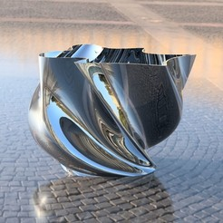 Plan imprimante 3D gatuit Vase (un de plus) ou un pot de fleurs, michoko