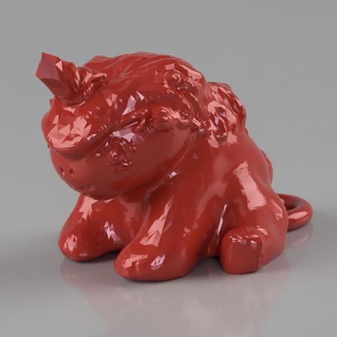 licoursonCULTS.png Download STL file key ring Licourson : Unicorn baby bear • 3D printing design, michoko