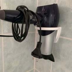 Impresiones 3D gratis Soporte de secador de pelo, Tom_as