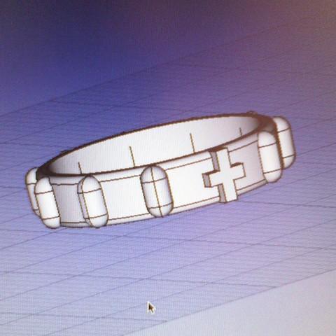 Modelos 3D para imprimir Anillo Rosario Rosary Ring, danielsilvag