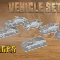 VehicleSet-Savages.jpg Download 3MF file Post Apocalyptic - Savages Team Set • 3D printing object, gametree3dprint