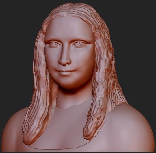mona-lisa-3d.jpg Download free STL file Mona Lisa 3D • 3D printer template, quangdo1700