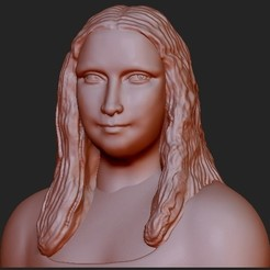 Download free STL file Mona Lisa 3D, quangdo1700