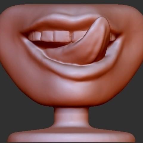 Free 3D printer model Human Licking Lips, quangdo1700