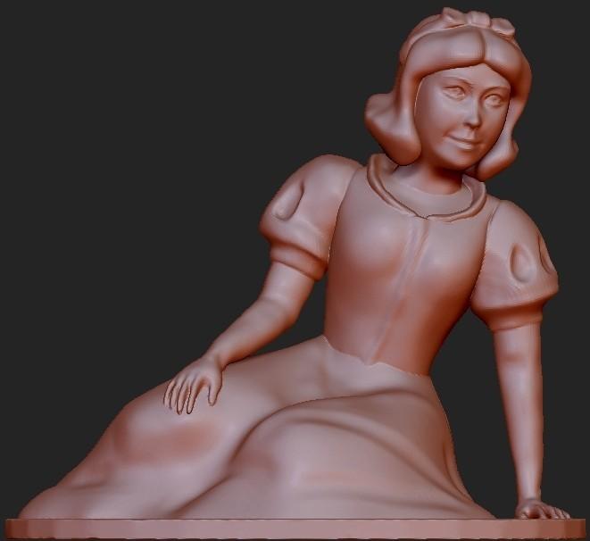 SnowWhiteSitting.jpg Download free STL file Snow White • 3D printable design, quangdo1700