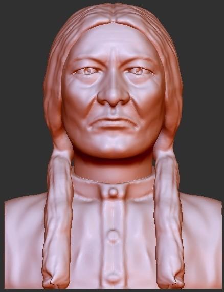 "SittingBull.jpg Download free STL file Figures - ""Sitting Bull"" Indian Chief • Design to 3D print, quangdo1700"