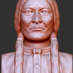 "Free stl Figures - ""Sitting Bull"" Indian Chief, quangdo1700"