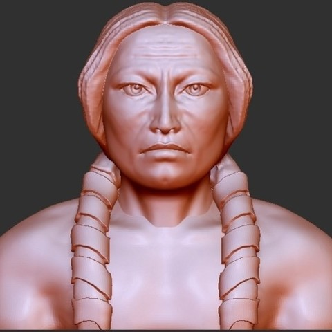 """b49c7158c98349a11a0b154688472def_preview_featured.jpg Download free STL file Indian Chiefs - """"Crazy Horse"""" • Model to 3D print, quangdo1700"""