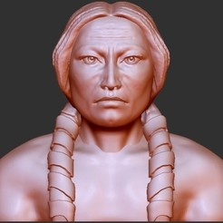 "archivos stl Indian Chiefs - ""Crazy Horse"" gratis, quangdo1700"