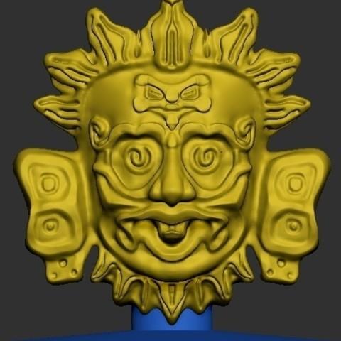 Download free 3D printing files Maya Sun God, quangdo1700