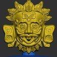 d1e57694f0ca91a9dd0e8af2c61414de_display_large.jpg Download free STL file Maya Sun God • 3D printable design, quangdo1700