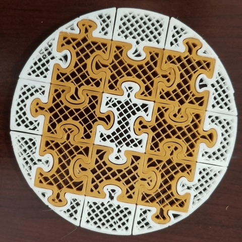 Free 3D model Puzzle Plate, quangdo1700