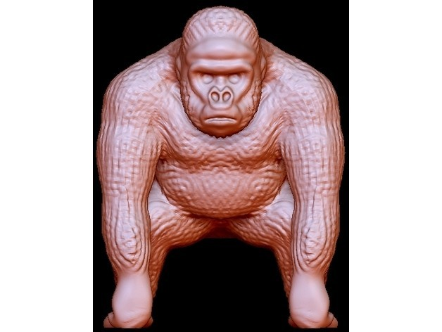 """bb5b6b3048a4ec9bec11a93a0afceb4c_preview_featured.jpg Download free STL file Gorilla """"Kong"""" • 3D printable template, quangdo1700"""