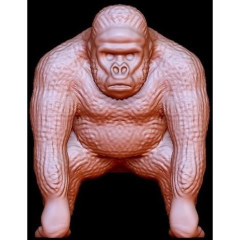 "Free STL Gorilla ""Kong"", quangdo1700"