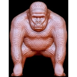 "Download free 3D printer designs Gorilla ""Kong"", quangdo1700"