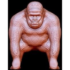 """Free stl file Gorilla """"Kong"""", quangdo1700"""