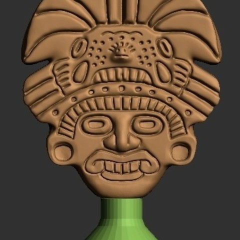 Free STL files Aztec Mask, quangdo1700