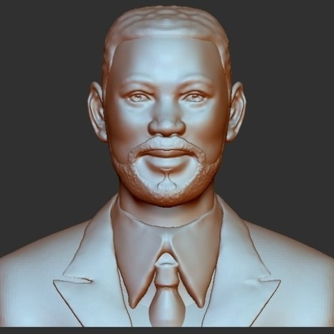 Free MIB - Will Smith bust 3D printer file, quangdo1700