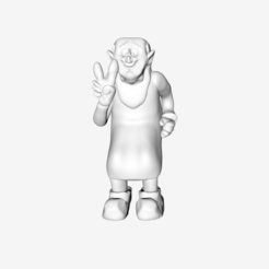 Free Gargamel Happy 3D printer file, quangdo1700