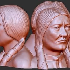 modelo stl gratis Esculturas Figuras Bustos, quangdo1700