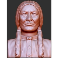 "Free 3d printer designs Indian Chiefs - ""Sitting Bull"", quangdo1700"