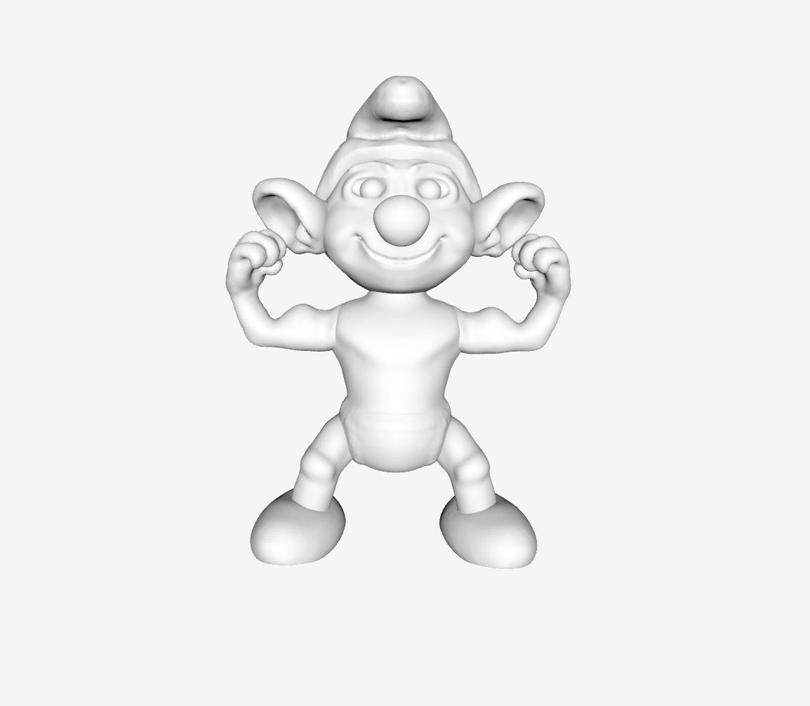 Capture d'écran 2018-01-30 à 14.21.07.png Download free STL file Smurf - Hefty • 3D printer design, quangdo1700