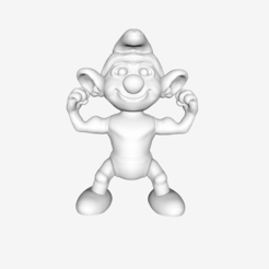 Free 3d printer model Smurf - Hefty, quangdo1700