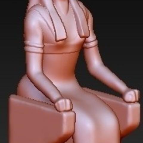 fichier 3d gratuit Déesse égyptienne Nephthys, quangdo1700