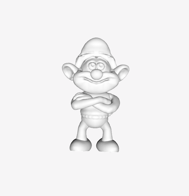 Capture d'écran 2018-01-30 à 14.22.17.png Download free STL file Smurf - Papa • 3D print model, quangdo1700
