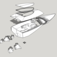 Descargar modelo 3D gratis 3DRC RC Jet Boat Prototype, finhudson16