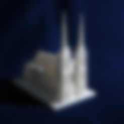 Clermont-Ferrand_Cathedral.stl Download free STL file Clermont-Ferrand Cathedral • 3D printable model, juanmi_260