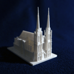 Free stl files Clermont-Ferrand Cathedral, juanmi_260