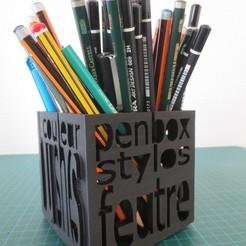 Descargar modelo 3D gratis Caja de lápices, tirawa