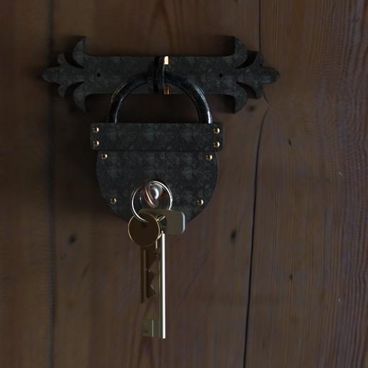 Download STL file Hanger for keys.Two-color press., URkA