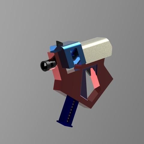 Pistol4.26.jpg Download STL file Gun for a cosplay • 3D printer model, URkA